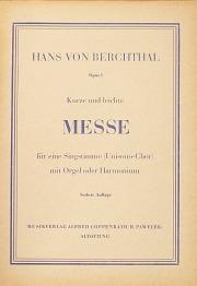 Hans von Berchthal: Kurze und leichte Messe