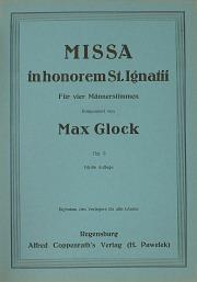 Max Glock: Missa in hon. St. Ignatii