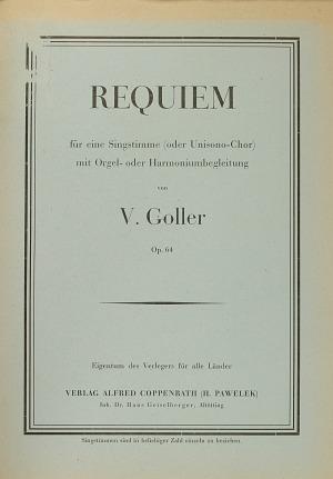 Vincenz Goller: Requiem
