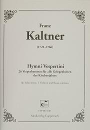 Kaltner: Hymni Vespertini