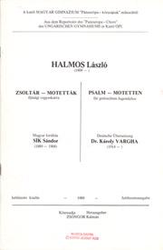 Halmos: 14 Psalm-Motetten für gem. Chor
